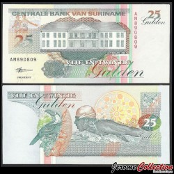 SURINAME - Billet de 25 Gulden - 10.2.1998