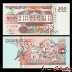 SURINAME - Billet de 500 Gulden - 9.7.1991