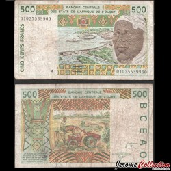 COTE D'IVOIRE - Billet de 500 Francs - Touareg - 2001