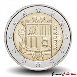 ANDORRE - PIECE de 2 Euro - Armoiries - 2017