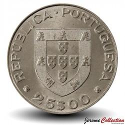 PORTUGAL - PIECE de 25 Escudos - Mondial de hockey - 1983