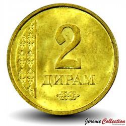 TADJIKISTAN - PIECE de 2 Diram - 2011 Km#36