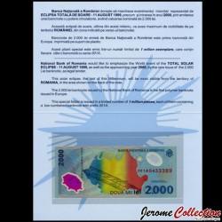 ROUMANIE - Billet de 2000 Lei - Système solaire - Polymer - 1999 P111b [en ALBUM]