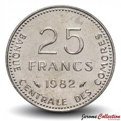 COMORES - PIECE de 25 Francs - Poussins - FAO - 1982