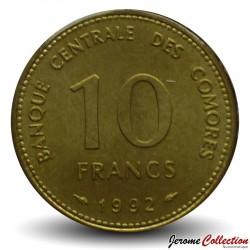 COMORES - PIECE de 10 Francs - Croissant à 4 étoiles - 1992 Km#17