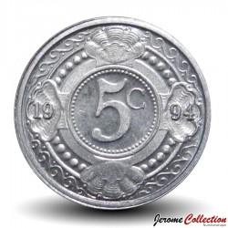 ANTILLES NEERLANDAISES - PIECE de 5 Cents - Fleur d'oranger - 2009 Km#33