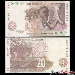 AFRIQUE DU SUD - Billet de 20 Rand - Elephants - 1993