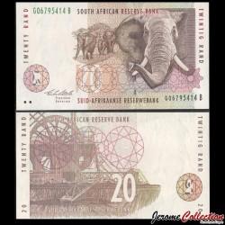 AFRIQUE DU SUD - Billet de 20 Rand - Elephants - 1993 P124a