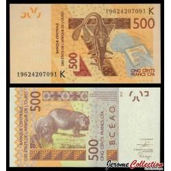 BCEAO - SENEGAL - Billet de 500 Francs - 2019 P719Kh
