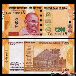 INDE - Billet de 200 Roupies - 2019