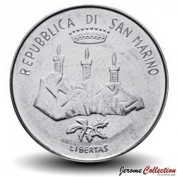 SAINT-MARIN - PIECE de 50 Lires - Réalisations sociales - 1982