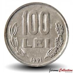 ROUMANIE - PIECE de 100 Lei - Michel Ier le Brave - 1991