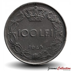 ROUMANIE - PIECE de 100 Lei - Roi Michel Ier - 1944 Km#64
