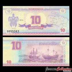 TORTUGA - Billet de 10 Escalins - 2014 - Tortue - Bataille Navale