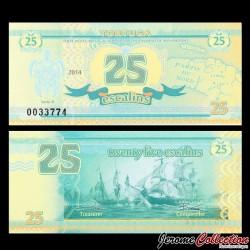 TORTUGA - Billet de 25 Escalins - 2014 - Tortue - Bataille Navale