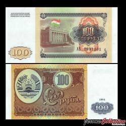 TADJIKISTAN - Billet de 100 Roubles - 1994