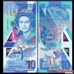 CARAIBES ORIENTALES - Billet de 10 DOLLARS - POLYMER - 2019