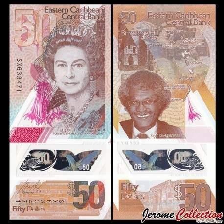 CARAIBE ORIENTALE - Billet de 50 DOLLARS - POLYMER - 2019 P58a