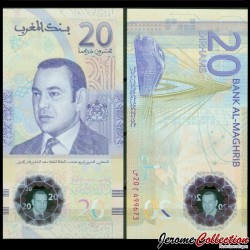 MAROC - Billet de 20 Dirhams - POLYMER - 2019 P78a