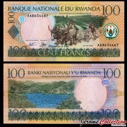 RWANDA - Billet de 100 Francs - Scène de Labour - 1.5.2003