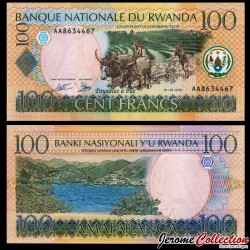 RWANDA - Billet de 100 Francs - Scène de Labour - 1.5.2003 P29a