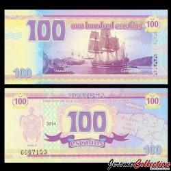 TORTUGA - Billet de 100 Escalins - 2014 - Tortue - Bataille Navale