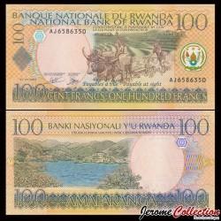 RWANDA - Billet de 100 Francs - Scène de Labour - 1.9.2003