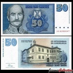 YOUGOSLAVIE - Billet de 50 Novih Dinara - Miloš Obrenović - 1996