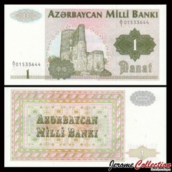 AZERBAIDJAN - Billet de 1 Manat - Tour de la jeune fille, Bakou - 1992