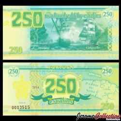 TORTUGA - Billet de 250 Escalins - 2014 - Tortue - Bataille Navale