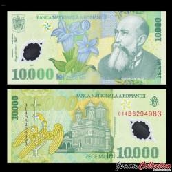 ROUMANIE - Billet de 10000 Leu - Polymer - 2001 P112b