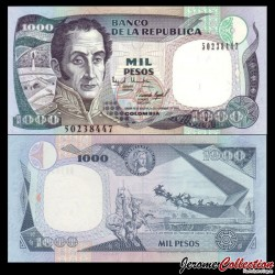 COLOMBIE - Billet de 1000 Pesos - Simón Bolívar - 01.11.1994