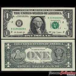 ETATS UNIS / USA - Billet de 1 DOLLAR - 2009 - B(2) New York P530aB