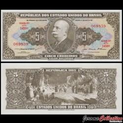 BRESIL - Billet de 5 Cruzeiros - Barão do Río Branco - 1953