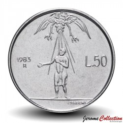 SAINT-MARIN - PIECE de 50 Lire - Le monstre de la guerre - 1983