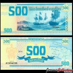 TORTUGA - Billet de 500 Escalins - 2014 - Tortue - Bataille Navale