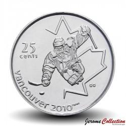 CANADA - PIECE de 25 CENTS - Vancouver 2010 - Hockey sur luge - 2009