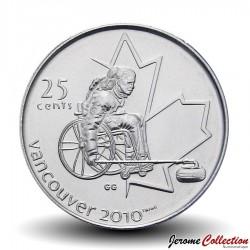 CANADA - PIECE de 25 CENTS - Vancouver 2010 - Curling paralympique - 2007