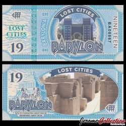 BABYLONIA - Billet de 19 Babylon - 2016
