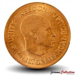 SIERRA LEONE - Pièce de 1 Cent - Sir Milton Margai - 1964 Km#17