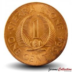 SIERRA LEONE - Pièce de 1 Cent - Sir Milton Margai - 1964