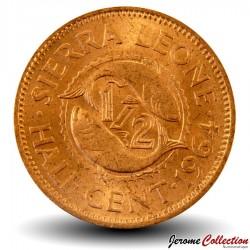 SIERRA LEONE - Pièce de 1/2 Cent - Sir Milton Margai - 1964 Km#16