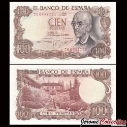 ESPAGNE - Billet de 100 Pesetas - Manuel de Falla - 1970 P152a3
