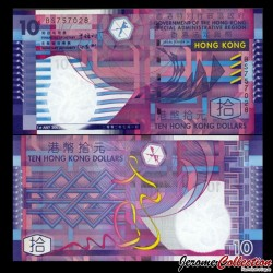 HONG KONG - Billet de 10 Dollars - 2002 P400a