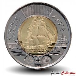 CANADA - PIECE de 2 DOLLARS - Le bateau de guerre HMS Shannon - 2012