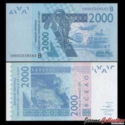 BCEAO - BENIN - Billet de 2000 Francs - Mérou - 2019