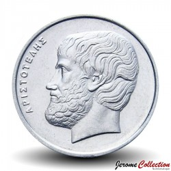 GRECE - PIECE de 5 DRACHMES - Aristote - 1998 Km#131