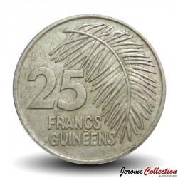 GUINEE - PIECE de 25 FRANCS - 1987 Km#60