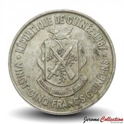 GUINEE - PIECE de 25 FRANCS - 1987