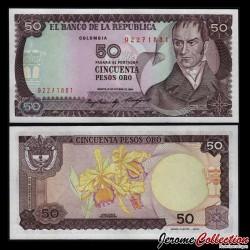 COLOMBIE - Billet de 50 Pesos Oro - Camilo Torres Tenorio - 12.10.1984 P425a.1